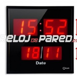 Reloj digital pared con calendario