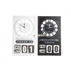 Reloj pared vintage con calendario