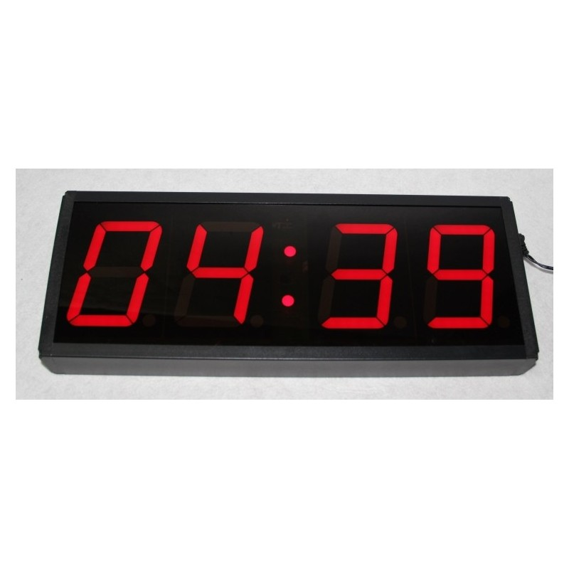 Reloj digital led en color rojo - Relojes digitales de pared ...