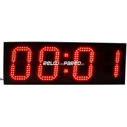Reloj digital LED rojo puntos