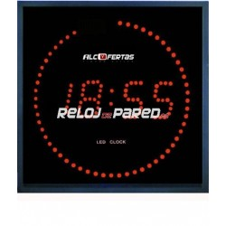 Reloj digital de pared Led rojo 28X28