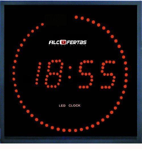 c42b8871fd9e Reloj led roj con segundos en circulo
