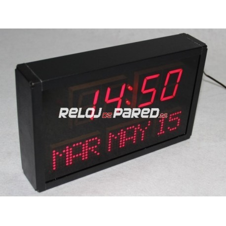 Reloj digital LED rojo con calendario
