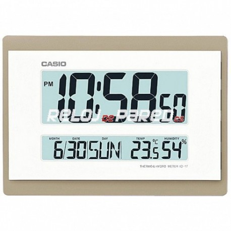 Reloj casio digital id17 - Relojes digitales de pared ...