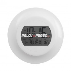 Reloj digital Calendario/Temperatura redondo
