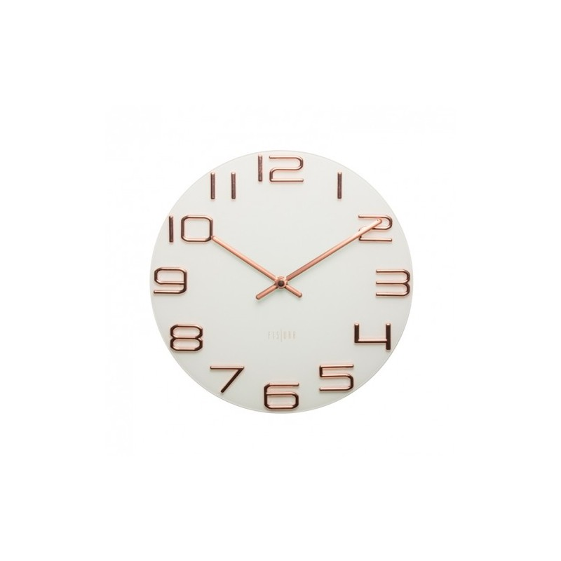 Reloj pared numeros en relieve color cobre reloj de pared - Relojes de pared modernos online ...