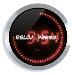 Reloj digital de pared redondo LED color rojo