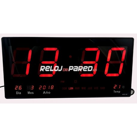 Reloj pared digital con alarma reloj de pared - Relojes digitales de pared ...