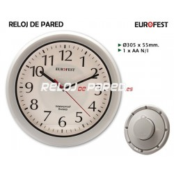 Reloj pared impermeable Euro-Fest
